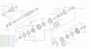 2007 Subaru Forester Gear Set 5th  Transmission  Shaft