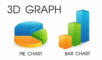 3d Chart Bar Pie Looks Modern Vector