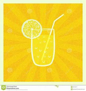 Background With Juice In Glass Royalty Free Stock ...