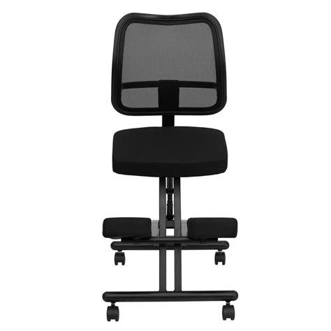 flash furniture mobile ergonomic kneeling chair w black