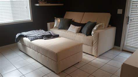 ana white storage sofa convertible  bed diy projects