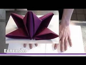 Youtube Servietten Falten : pliage de serviette en papier fleur de lys comment faire des d coration youtube deco ~ Frokenaadalensverden.com Haus und Dekorationen
