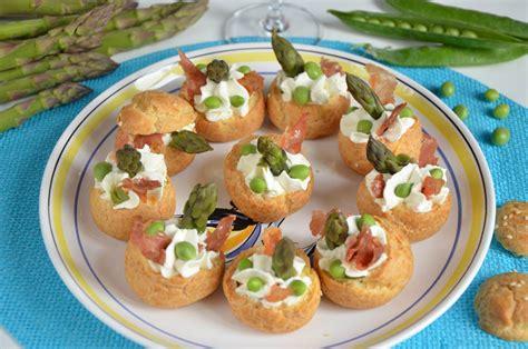 recette plat cuisiné mini choux asperges petits pois chips de jambon cru