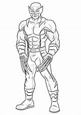 Wolverine Coloring Pages Claws Sharp Printable sketch template