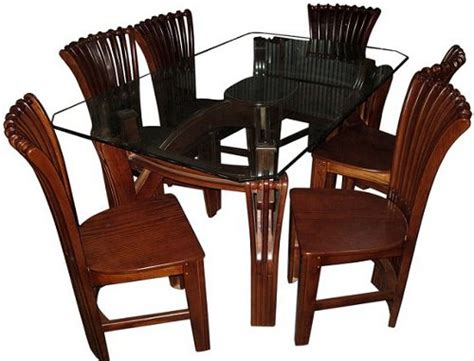 dining table furniture set  chair  glass veener wood
