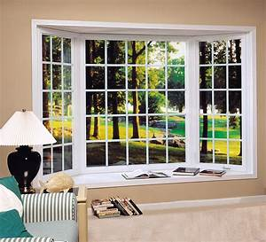 45 Degree Bay Window With 3 Colonial Grille Casement Windows