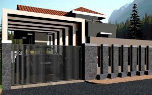 model pagar rumah minimalis sederhana  elegan