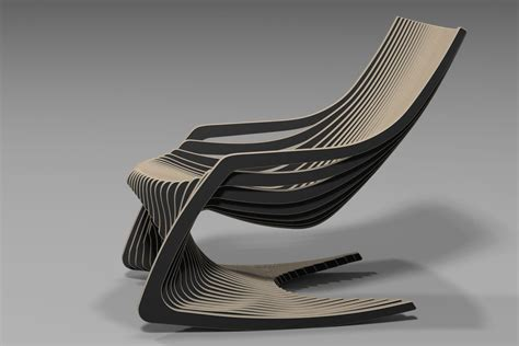 rocking chair cnc router plywood furniture www