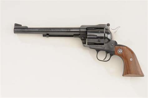 ruger new model blackhawk revolver 30 carbine cal 7 1 2 barrel blue finish wood medallion gri