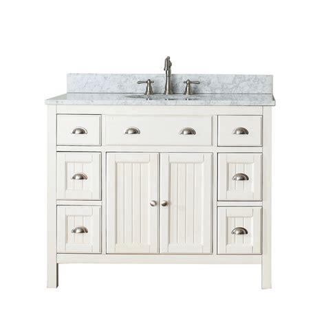 Hamilton Vanity Traditional Bathroom Vanity Avanity Hamilton 42 Quot Single Bathroom Vanity White