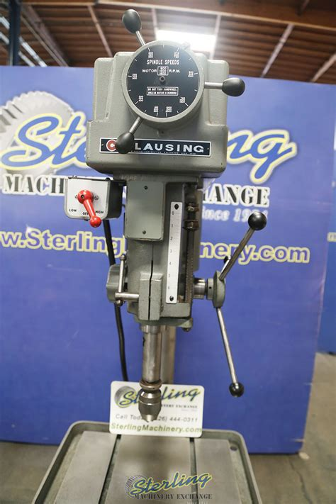 clausing variable speed drill press sterling machinery