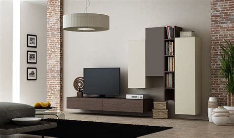 meuble tele suspendu ensemble suspendu meuble tv avec rangements muraux en ch 234 ne