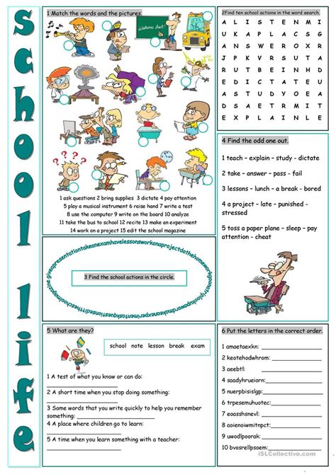 exercises classroom vocabulary classroom