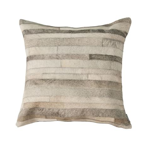 Torino Cowhide Pillow by Torino Classic Diago Gray Cowhide Decorative Pillow