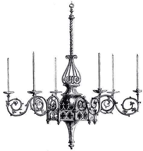 Vintage Gothic Chandelier Image  The Graphics Fairy