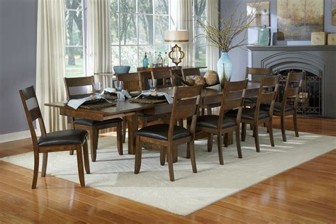 mariposa 132 quot rustic whiskey extendable trestle dining room from a america coleman furniture