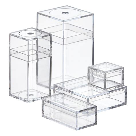 Amac Boxes by Small Clear Amac Boxes The Container Store