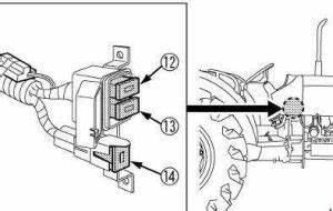 Kubota Tractor M8540 - Fuse Box Diagram