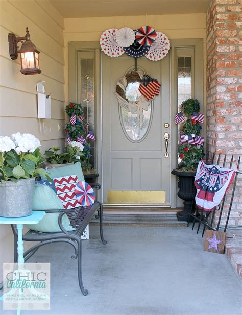 front door decor inspired designs monday easy 4th of july decorating