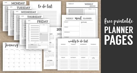 Monthly Organiser Template by Monthly Planner Template Printable Planner Pages Paper