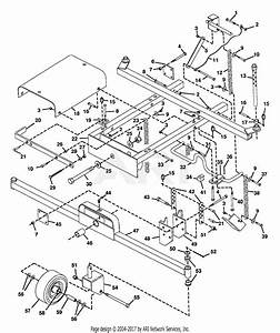 Gravely 45405 60 U0026quot  Deck Pm Gear Parts Diagram For Mower Frame