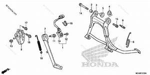 Honda Motorcycle 2014 Oem Parts Diagram For Stand