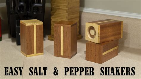 easy gift project salt  pepper shakers  youtube