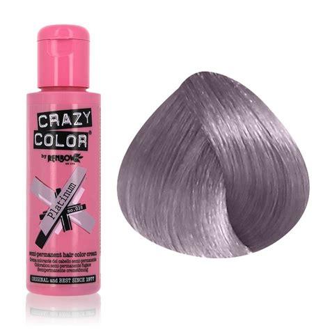 Crazy Color Colour Hair Dye Semi Permanant 100ml Platinum