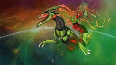 Rayquaza Pokemon Mega Fanart Space Wallpapers Roar