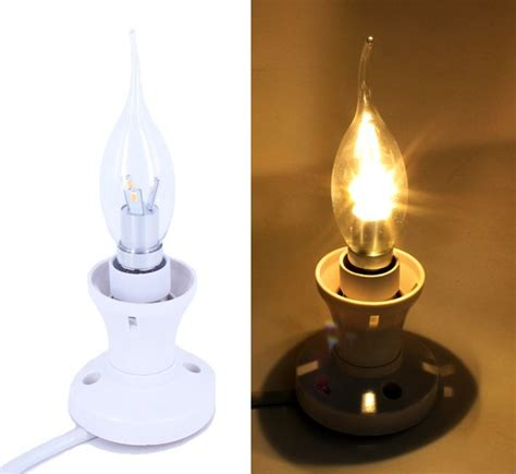 e14 chandelier twisted clear candle led bulb edison e14
