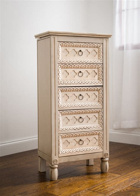 Hives & Honey Abby Ivory Jewelry Armoire Home
