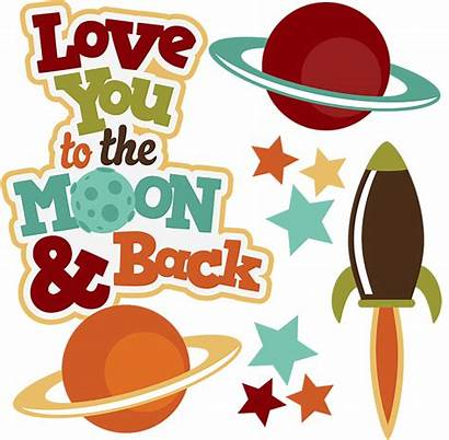 Moon Clipart Clip Space Svg Outer Scrapbook