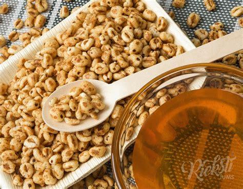 Kviešu pārslas ar medu uzpūstas 0.5 kg - Rieksti Jums