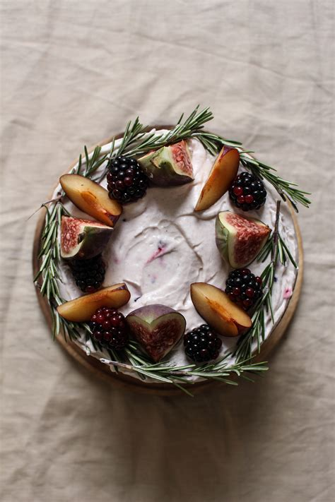 creme fraiche cuisine black tea poached plum and fig cake with rosemary