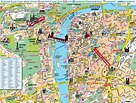 Prague hotels map with best tourist attractions Printable ...