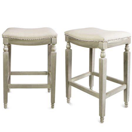 counter comfortable bar elegant saddle backless stool chair gray barton