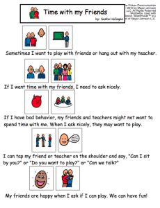 social story templates 10 social stories about friendship printable or