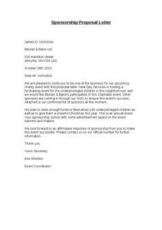 Sponsorship Proposal Cover Letter | LSK | Pinterest