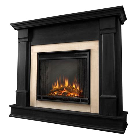 real flame silverton   electric fireplace  black