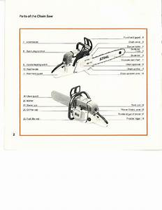 Stihl 038 Chainsaw Owners Manual