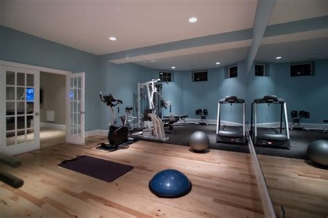 salle de sport moderne home basement gymnasium and studio architecture