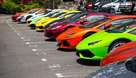 Mclaren And Lamborghini Newport Beach Joint Supercar Drive