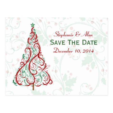 christmas wedding save the dates postcards postcard