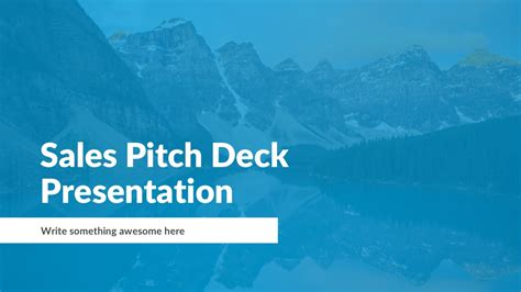 sales pitch powerpoint template   theme