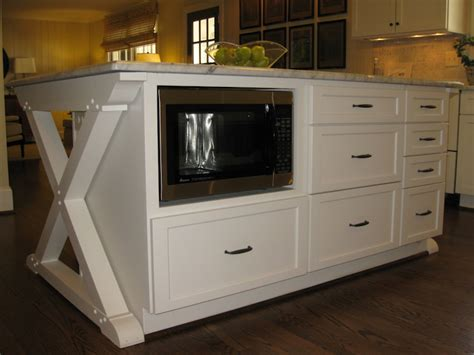 Kitchen Island Microwave Design Ideas