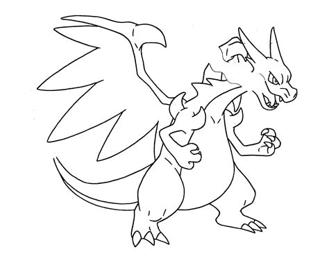 Pokemon Coloring Pages Mega Charizard Ex Interior Design
