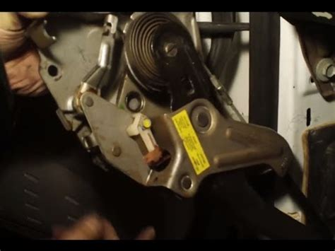 emergency brake pedal assembly stuck brake cable youtube