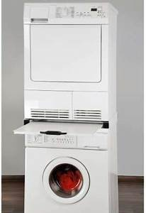 Regal Für Waschmaschine : trockner auf waschmaschine stellen oder befestigen trockner24 ~ Markanthonyermac.com Haus und Dekorationen