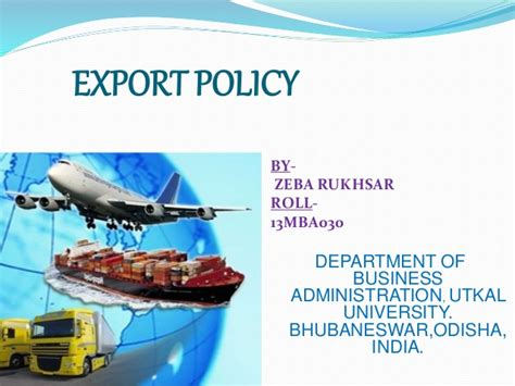 bureau of export administration export policy foreign trade policy by zeba