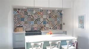 carrelage imitation carreaux de ciment un grand retour With credence cuisine imitation carrelage